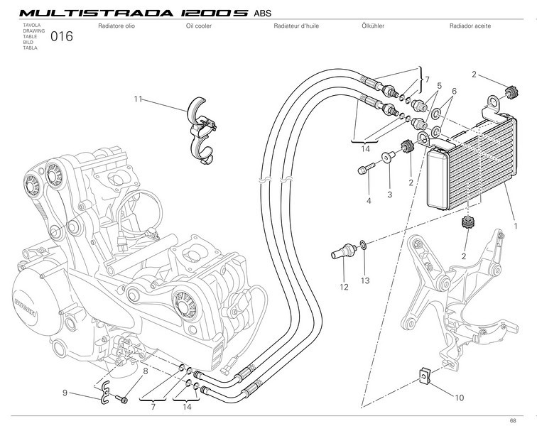 Ducati Multistrada 1200 - oil cooler and oil lines  Multistrada 1200 / 1200S 'How to & FAQs'