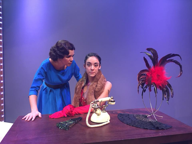 """. Rose (Trinidad Snider), left, and Gypsy Rose Lee (Kirstin Henry) star in \""""Gypsy\"""" at Geauga Lyric Theater. The show runs Jan. 19 through Feb. 4 in the theater at 101 Water St. in Chardon. For more information, visit www.geaugatheater.org. (Submitted)"""
