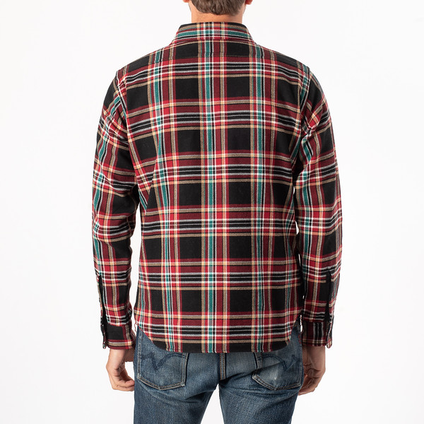 Black Crazy Check Ultra Heavy Flannel Work Shirt-3917.jpg