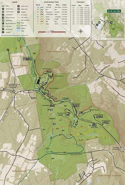 John Boyd Thacher State Park (Trail Map - South)