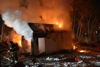 Garage Fire - 206 Gale Avenue, Meriden, CT - 2/21/21