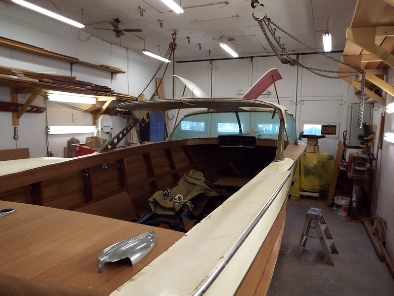 Rear starboard view of the doors in the open position.