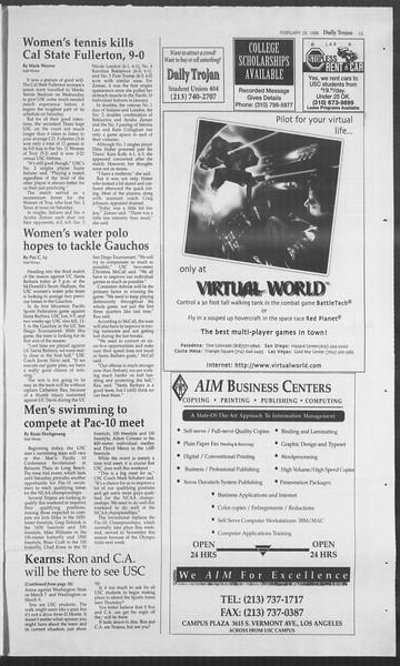 Daily Trojan, Vol. 127, No. 32, February 29, 1996