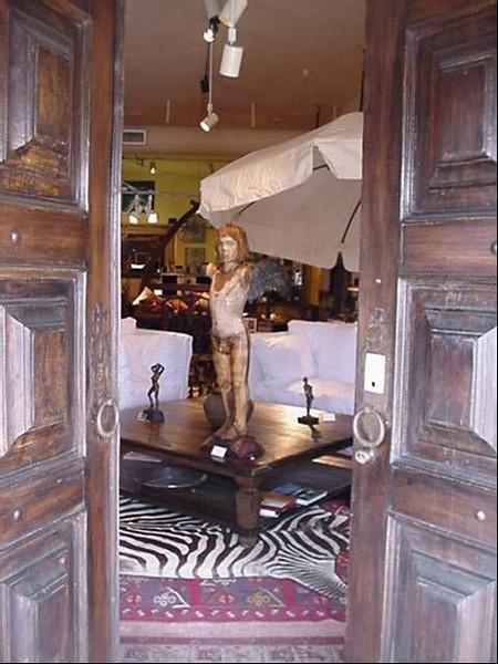 Front door of the artmosphere showroom.