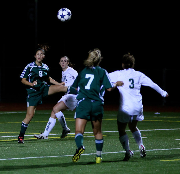 Christine Horne, Maddie Jones Woodinville High Girls Varsity Soccer verse Skyline High October 20, 2011, ©Neir