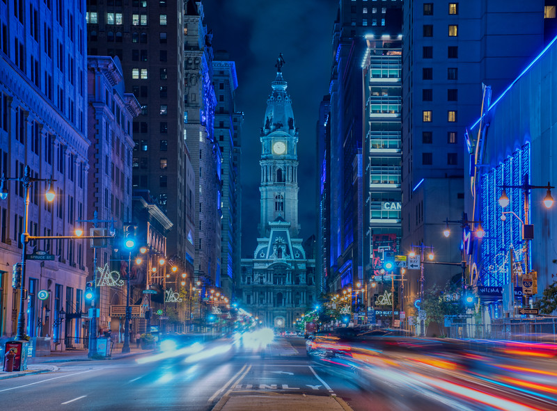Night View of Philadelphia