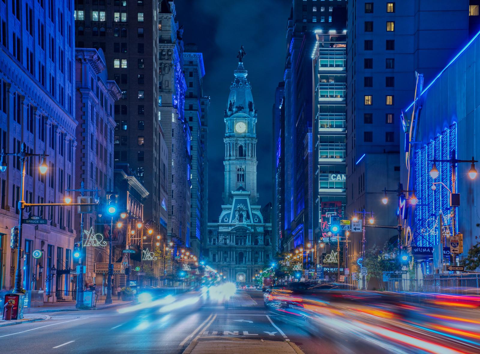 Night View of Philadelphia