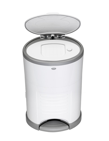Korbell_Nappy_Bin_Product_Shot_Mini_9L_Pure_White_Front_Angle_Lid_Open.jpg