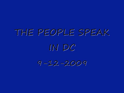9-11-09 & 9-12-09 in Washington, D.C.   speakers up?