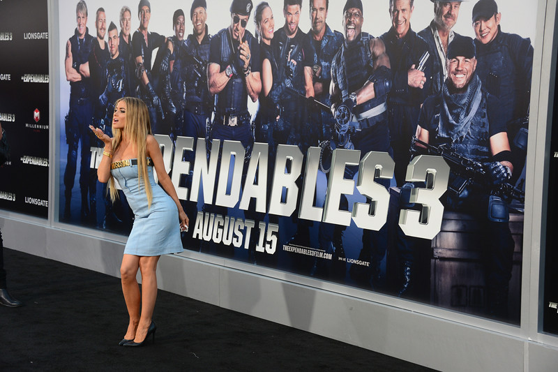 ". Model Carmen Electra attends Lionsgate Films\' ""The Expendables 3\"" premiere at TCL Chinese Theatre on August 11, 2014 in Hollywood, California.  (Photo by Frazer Harrison/Getty Images)"