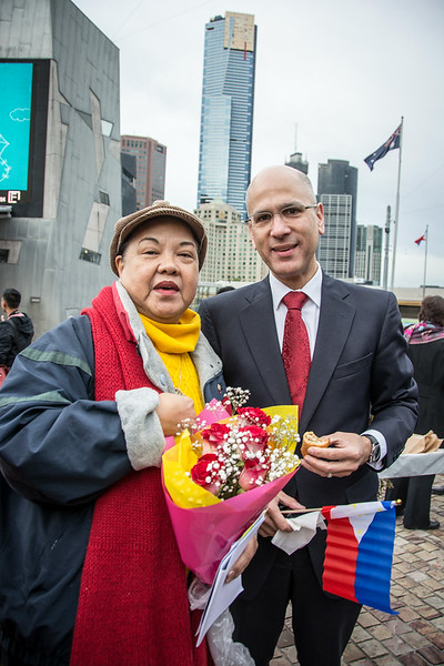 Philippine Flag Raising at FedSquare 2014
