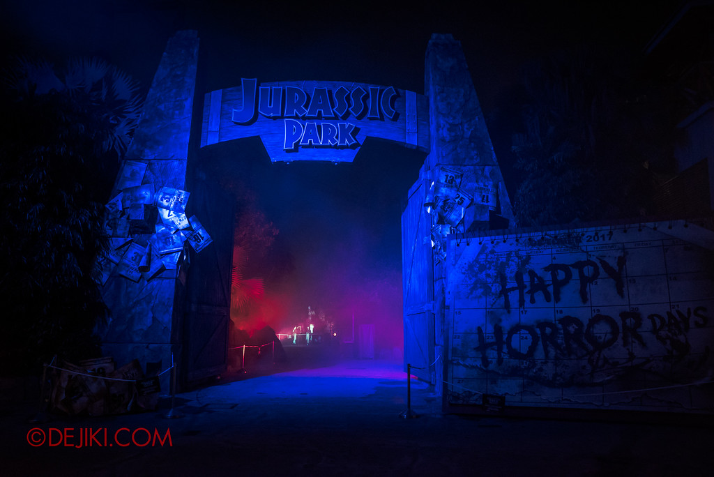 Halloween Horror Nights 7 MasterCard Priceless Experience - Eerie Jurassic Park area