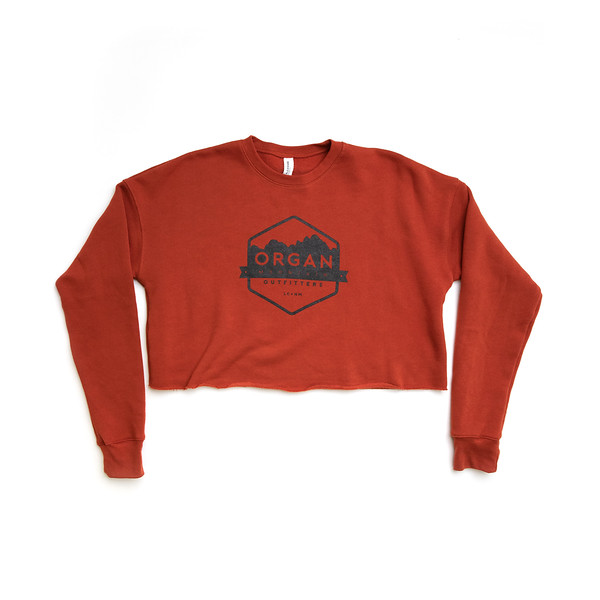 Organ Mountain Outfitters - Outdoor Apparel - Womens - Classic Cropped Crew Fleece - Brick.jpg
