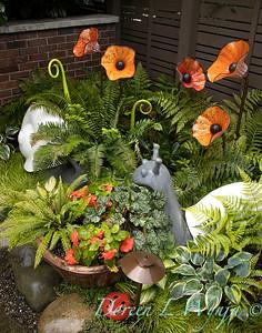 Courtney Olander, garden designer and her gardens