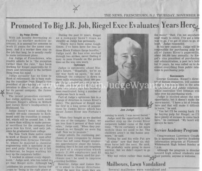 Joseph W Judge III