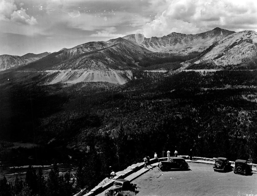 . Trail Ridge Road, Rocky mountain National Park, Colorado, 1939. (Denver Post Library photo archive)