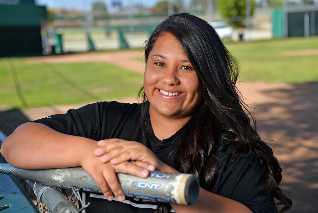. Carson HS softball coach Valentina Nabayan is the Daily Breeze Coach of the Year for girl\'s softball 2014. Photo by Brad Graverson June 6, 2014
