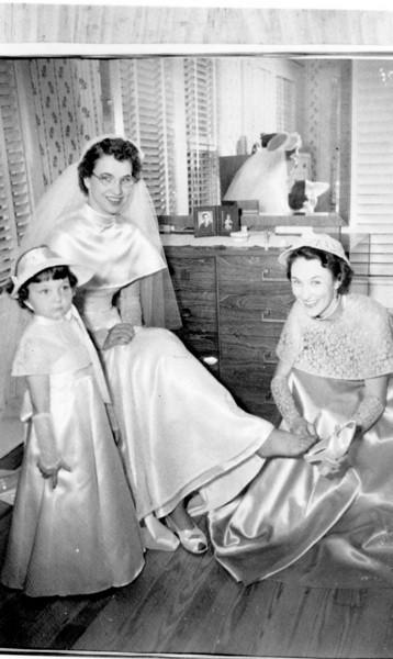 Sharon Elizabeth Cury, Maria Jacob, Frieda Jacob Wick Walter 'Rip' Smock and Maria Jacob Wedding September 9, 1950