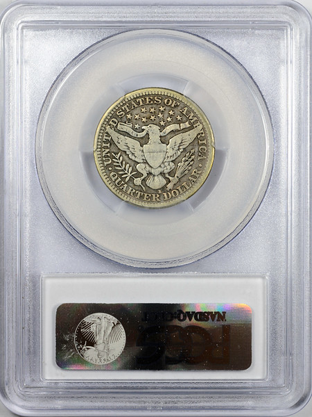 1914 S QUARTER DOLLAR - BARBER LIBERTY HEAD PCGS VG10 CAC Reverse