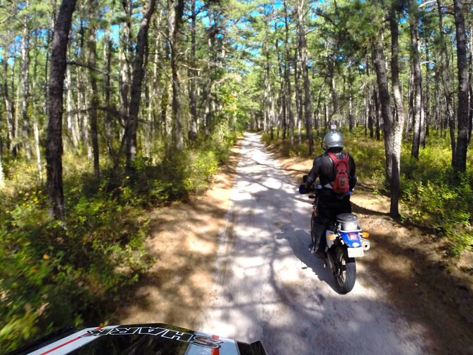 fuzzygalore and advwannabe riding in the pine barrens