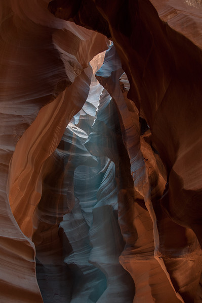 Beam of light in the Upper Antelope Canyon in Arizona, USA