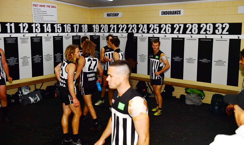 """Waikerie celebrate the win and Mitch Hahns 1st """"A"""" Grade game"""