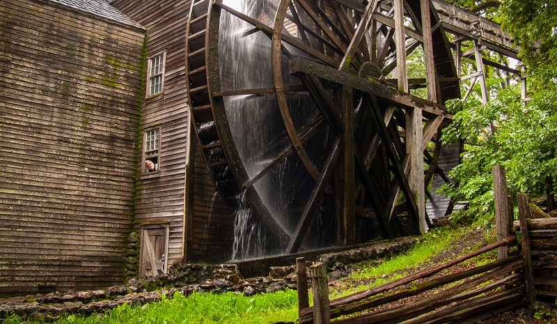 Miller, Bale Grist Mill State Historic Park, Saint Helena, California, 2007