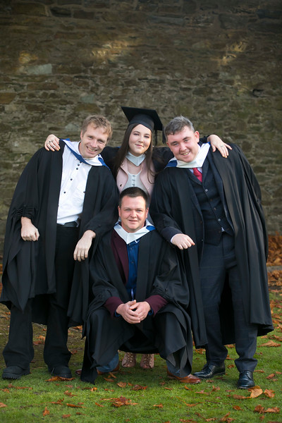 02/11/2018. Waterford Institute of Technology (WIT) Conferring Ceremonies 2018. Pictured are Patrick Cooke Kilkenny, Kirsty Godfrey Tramore, John Doyle Rathnure and Darren Lynch Westmeath. Picture: Patrick Browne
