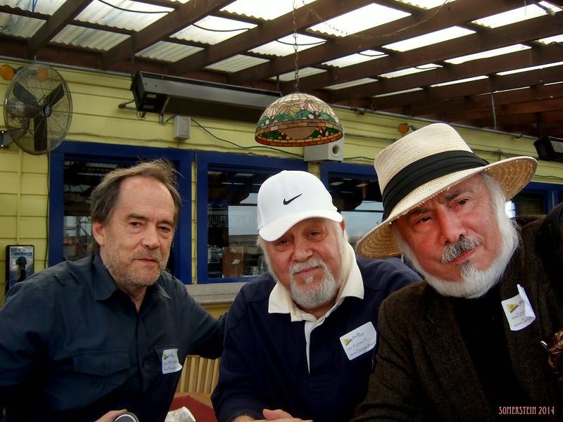 Mark Rennie, left; Robert Altman, center; and Stephen Somerstein on right - Mark Rennie and his friend Michelle's birthday party at Bayview Boat Club