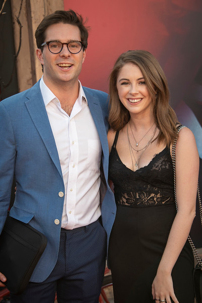 """WESTWOOD, CA - AUGUST 26: Jill Cimorelli (R) and Conor O'Reilly attend the Premiere Of Warner Bros. Pictures' """"It Chapter Two"""" at Regency Village Theatre on Monday, August 26, 2019 in Westwood, California. (Photo by Tom Sorensen/Moovieboy Pictures)"""