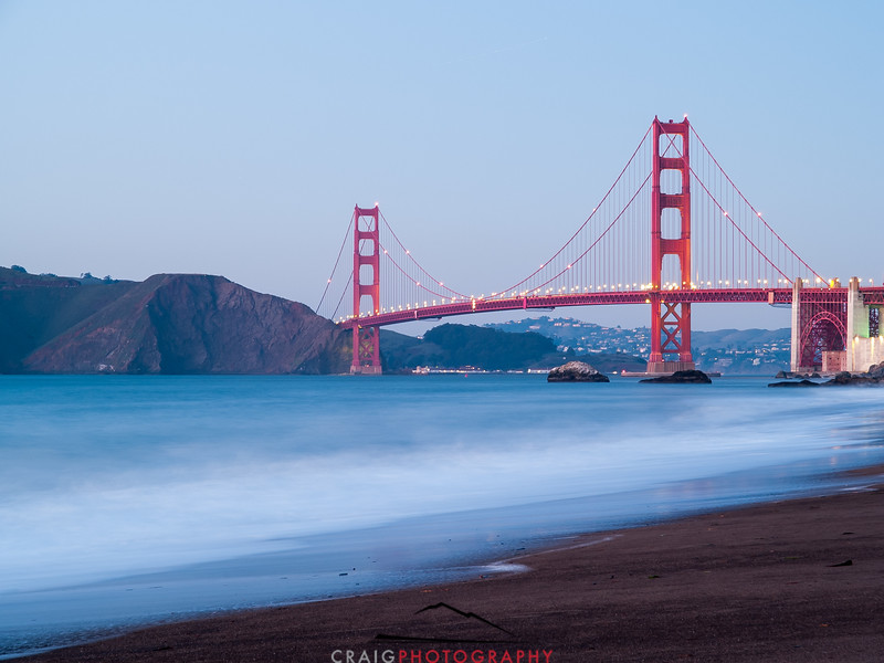 Golden Gate Bridge time exposure