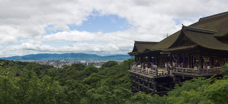 The main stage at Kiyomizu-dera temple in Kyoto
