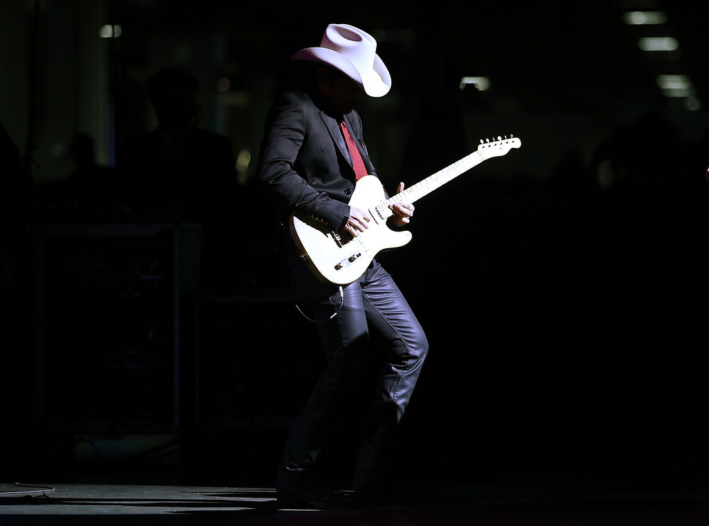 . WASHINGTON, DC - JANUARY 21:  Singer Brad Paisley performs during the Inaugural Ball at the Walter E. Washington Convention Center on January 21, 2013 in Washington, DC. U.S. U.S. President Barack Obama was sworn-in for a second term earlier in the day.  (Photo by Alex Wong/Getty Images)