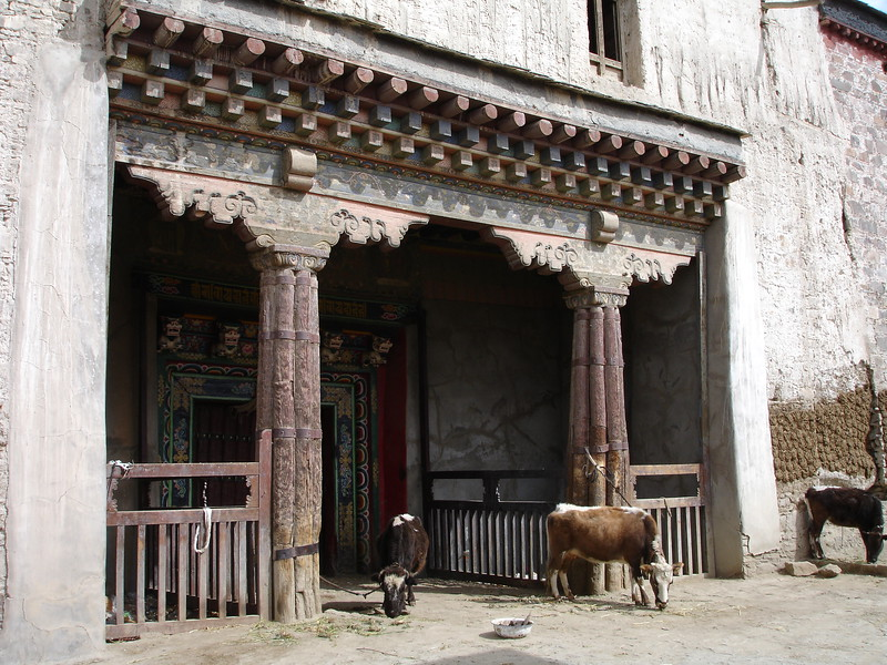 side entry to temple in Gyantse, Tibet