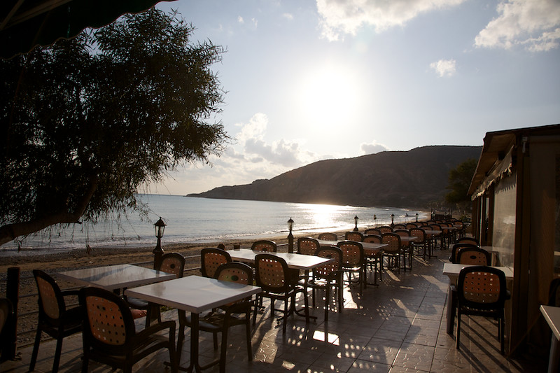 Taverna on the beach in Pissouri Bay