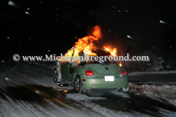 1/11/10 - Delhi Twp car fire, 4700 blk Harper Rd
