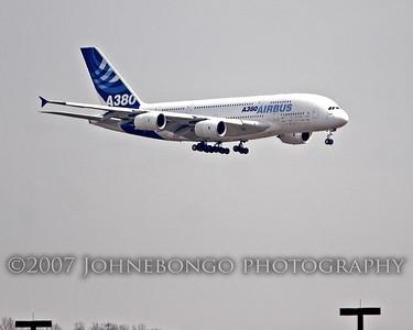 Airbus A380 Visit to Washington Dulles International