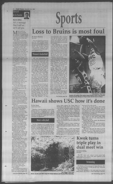 Daily Trojan, Vol. 133, No. 11, January 26, 1998