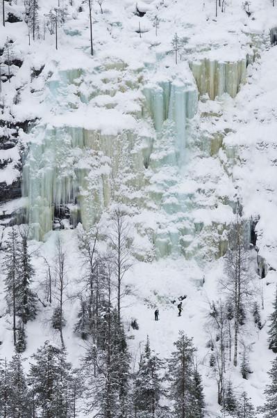 Korouoma  Icefall