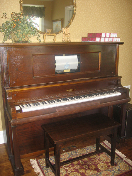 1919 Kimball player piano from 1919, manufactured in Jasper, IL, restored by Brendel's Pianos, Palos Park, IL.