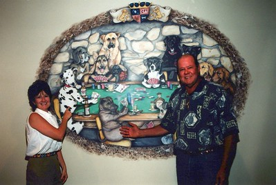 9-14-2000 Dogs Playing Poker mural Unveiling @ Brown