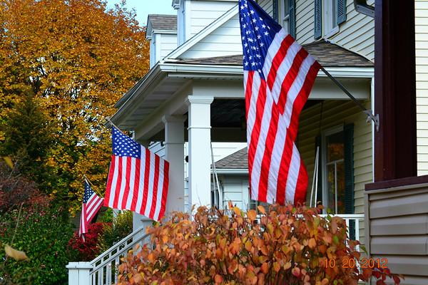 Seasons American Flags