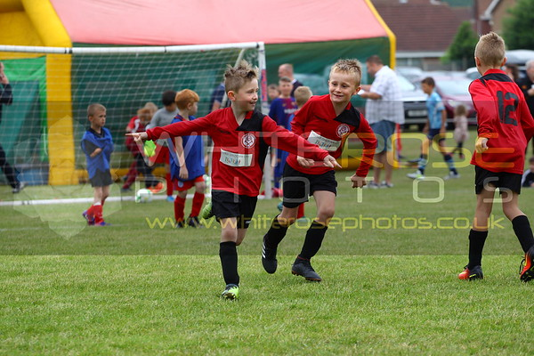 Under 8's at Thorpe United gala 2018