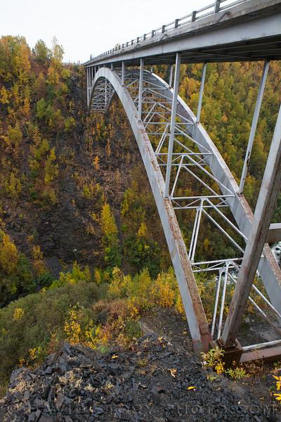 Hurricane Gulch Bridge. Parks Hwy. Alaska.