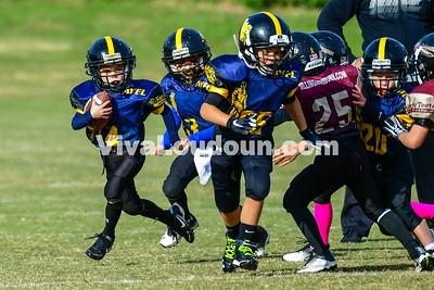 Youth Football: AYFL D-Mountaineers vs. D-Seminoles 10.28.2017 (by Al Shipman)