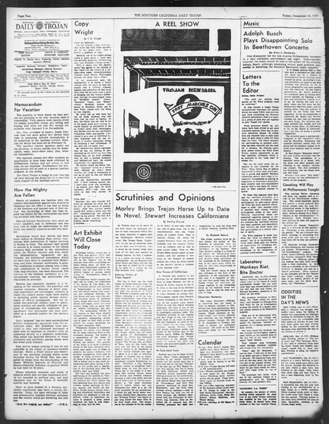 Daily Trojan, Vol. 29, No. 57, December 10, 1937