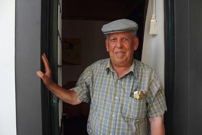Manuel Machado Bettencourt (São Mateus, Pico), born 1933, pictured at his family's home. August 23, 2012.