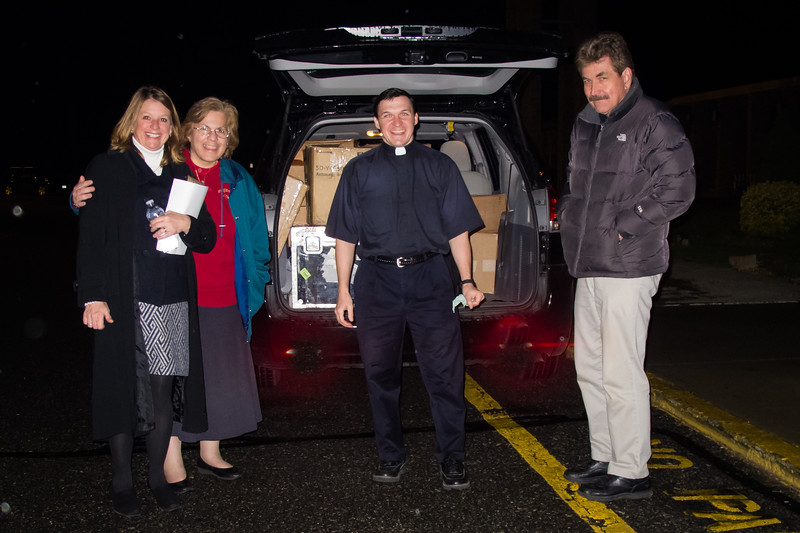 On the road with Fr. Anthony Gramlich, MIC  Packing up at St. Thomas Moore Parish.  March 30,2012