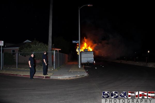 LAFD - Trailer Fire - 8-26-11