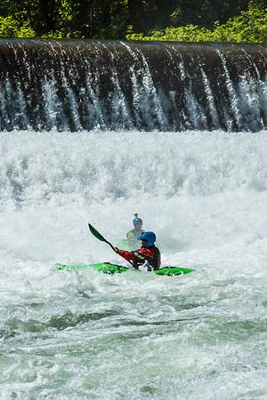 Kayaking on the Wenatchee River in Washington